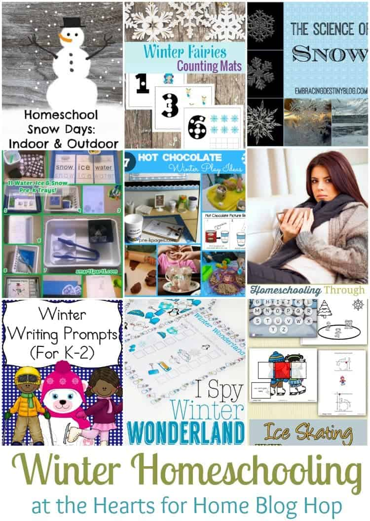 Come find some new winter homeschooling ideas at this week's Hearts for Home Blog Hop. | homeschoolpreschool.net