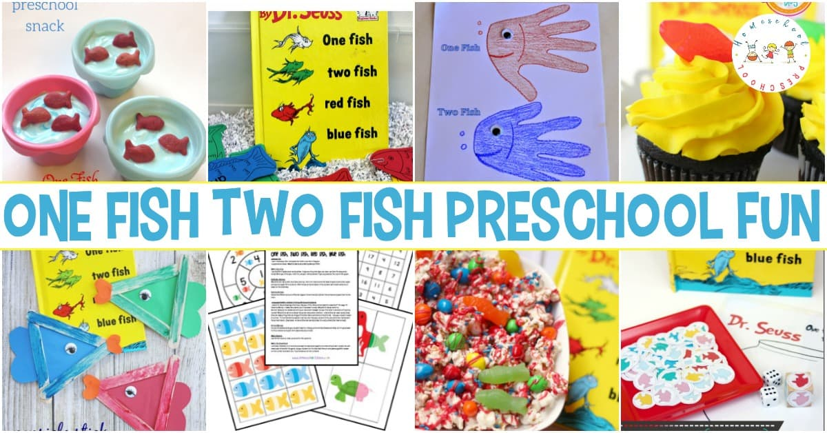 picture about One Fish Two Fish Printable named Fingers-Upon A person Fish 2 Fish Printables and Actions