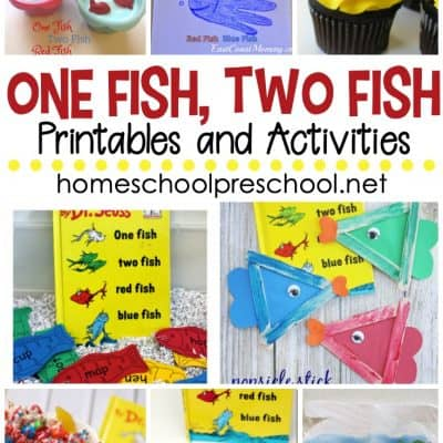 One Fish Two Fish Printables and Activities