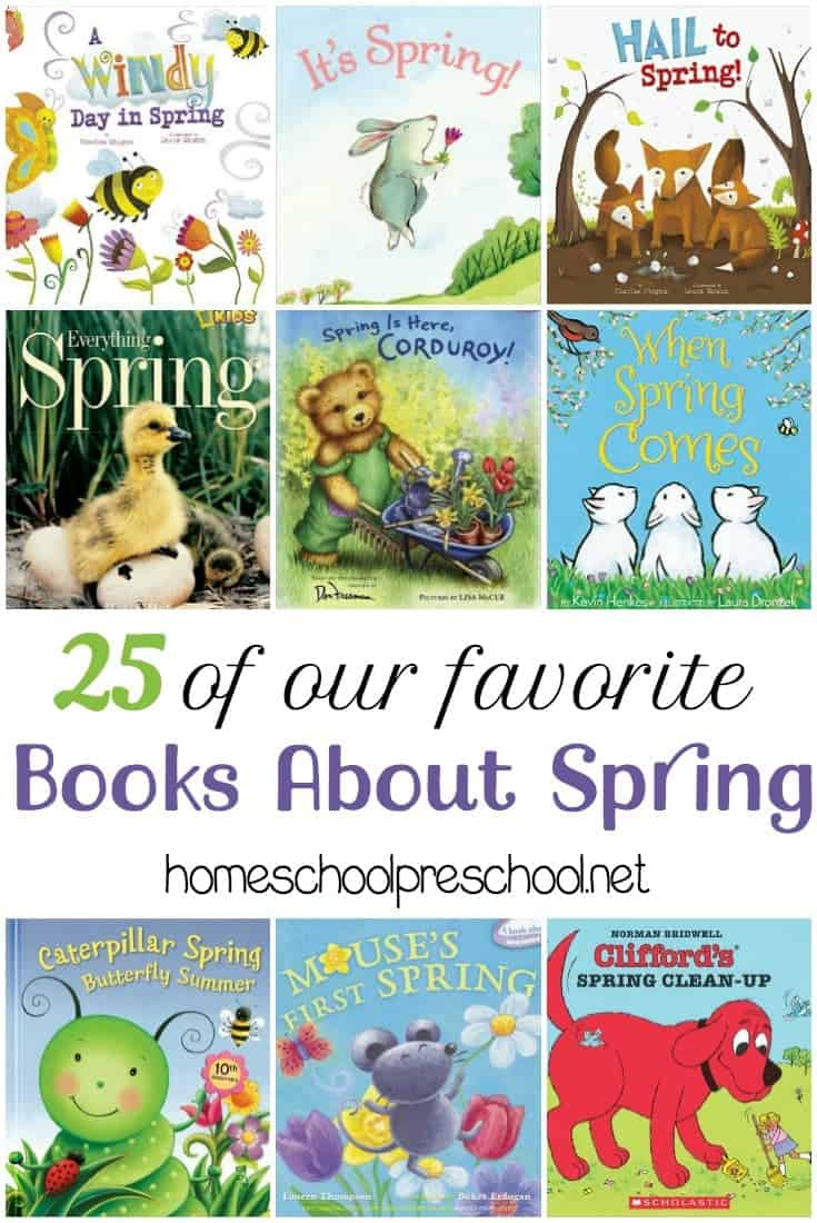 Fill your book basket with one or more of these children's picture books about SPRING! | homeschoolpreschool.net