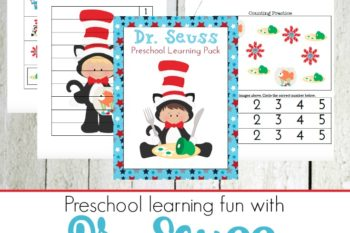 Dr Seuss Printable for Tots and Preschoolers