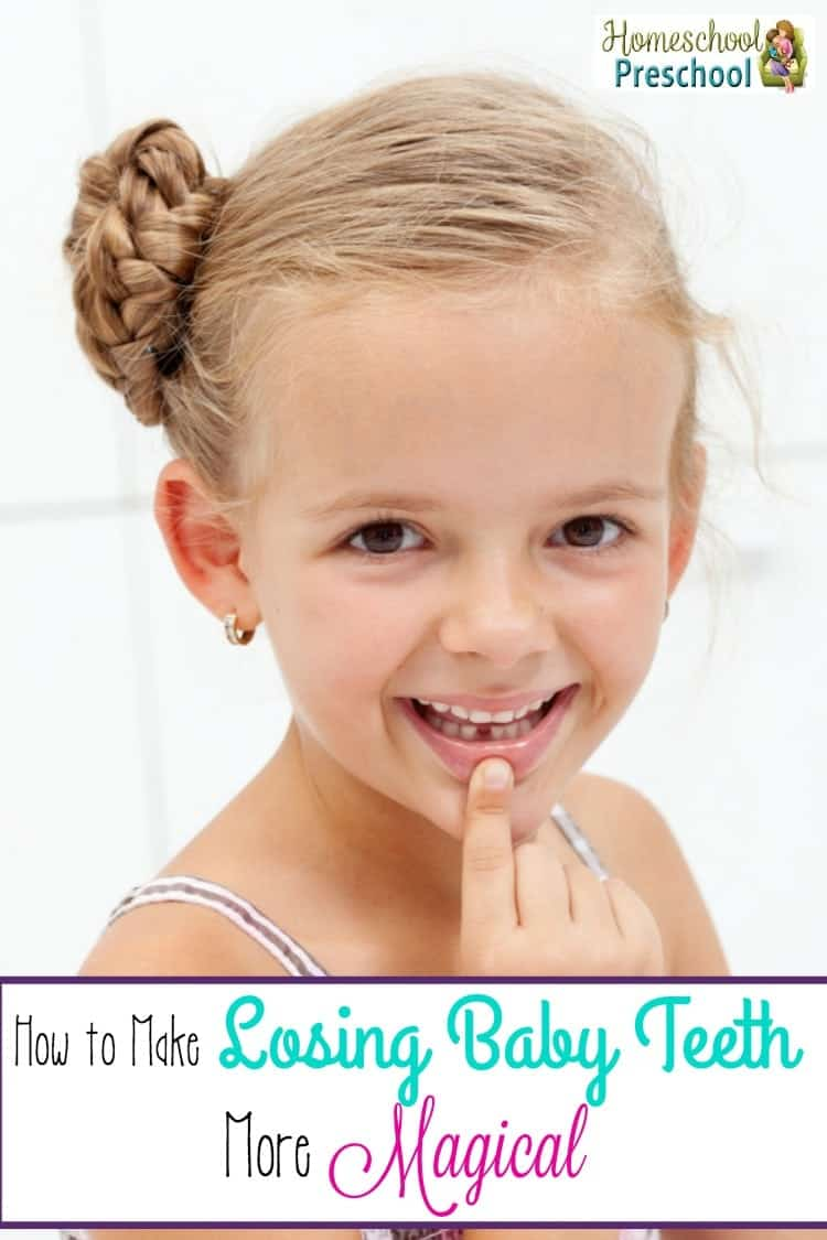 You've helped your child with teething and cutting teeth. Now, it's time to go through your child losing their baby teeth. Create magical Tooth Fairy traditions with some of the fun suggestions here! | homeschoolpreschool.net