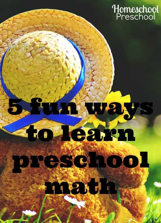 Have you introduced preschool math to your child yet, or does the thought of workbooks and worksheet make you sigh in dread? Don't worry, the solution is here. Here are five fun ways to teach preschool math to your child. | homeschoolpreschool.net