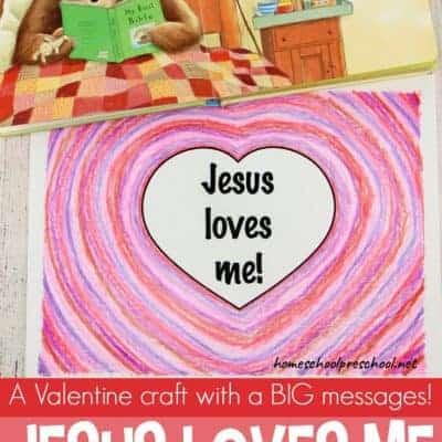 Jesus Loves Me Valentines Craft for Kids