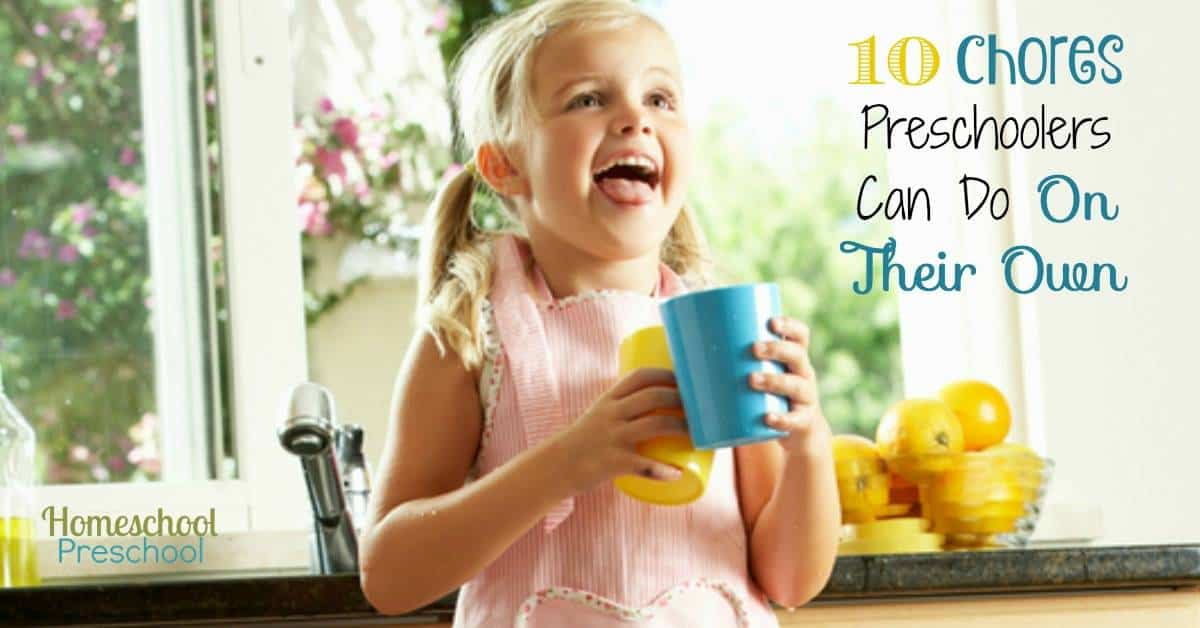 10 Chores Preschoolers Can Do On Their Own