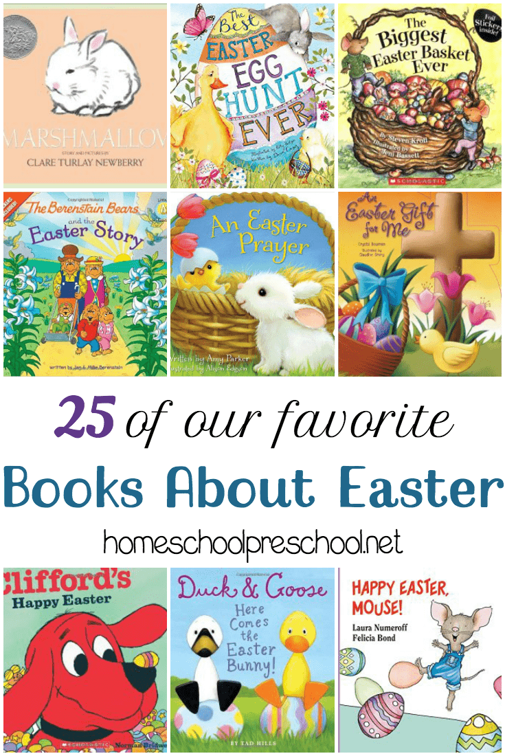 Fill your holiday book basket with one or more of these children's books about Easter!   homeschoolpreschool.net