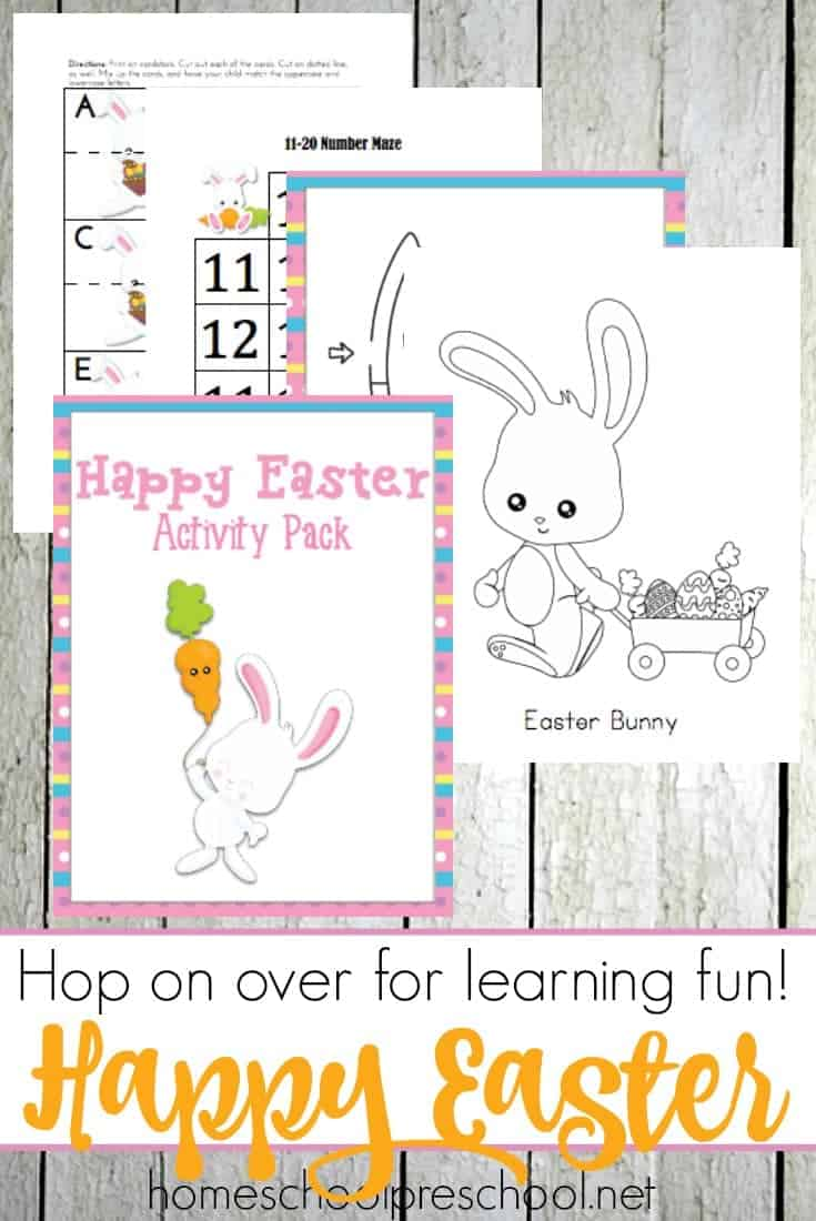 Celebrate the holidays with these fun Easter printables for toddlers and preschoolers. | homeschoolpreschool.net