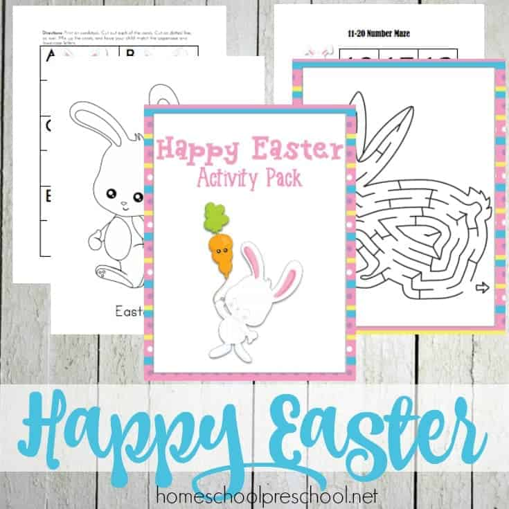 Easter Printables for Tots and Preschoolers