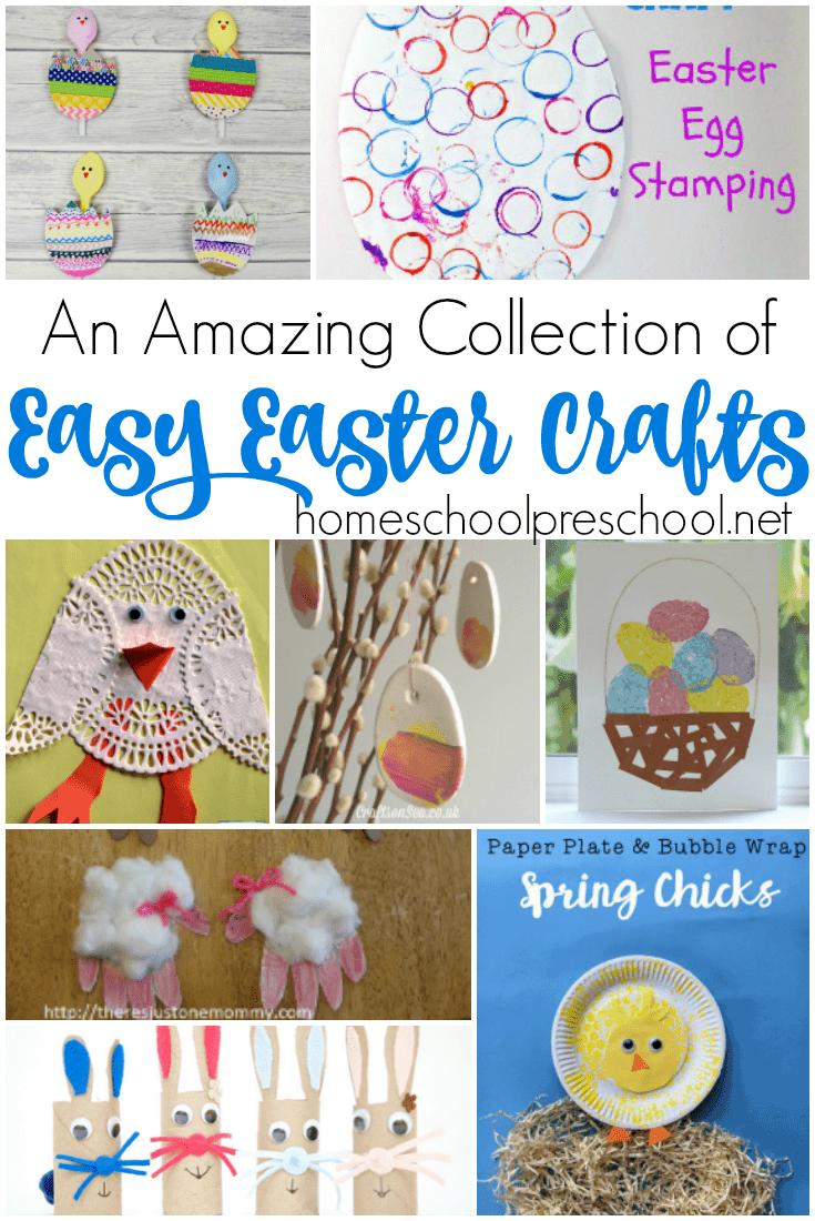 Looking for something fun to do this spring? Here's an amazing collection of easy Easter crafts for kids of all ages. | homeschoolpreschool.net