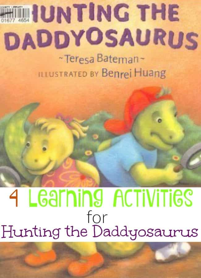 If you haven't read Hunting the Daddyosaurus yet, you've missed a treat. Two dinosaur siblings search the house hunting for their daddyosaurus. The rhyme and rhythm draw you in and keep you hooked until the last stanza. | homeschoolpreschool.net