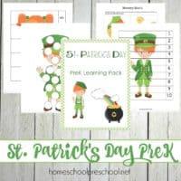 St Patricks Day Preschool Learning Pack