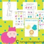 Free Animal Crackers Preschool Printable