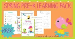 Free Spring Learning Pack for Preschoolers