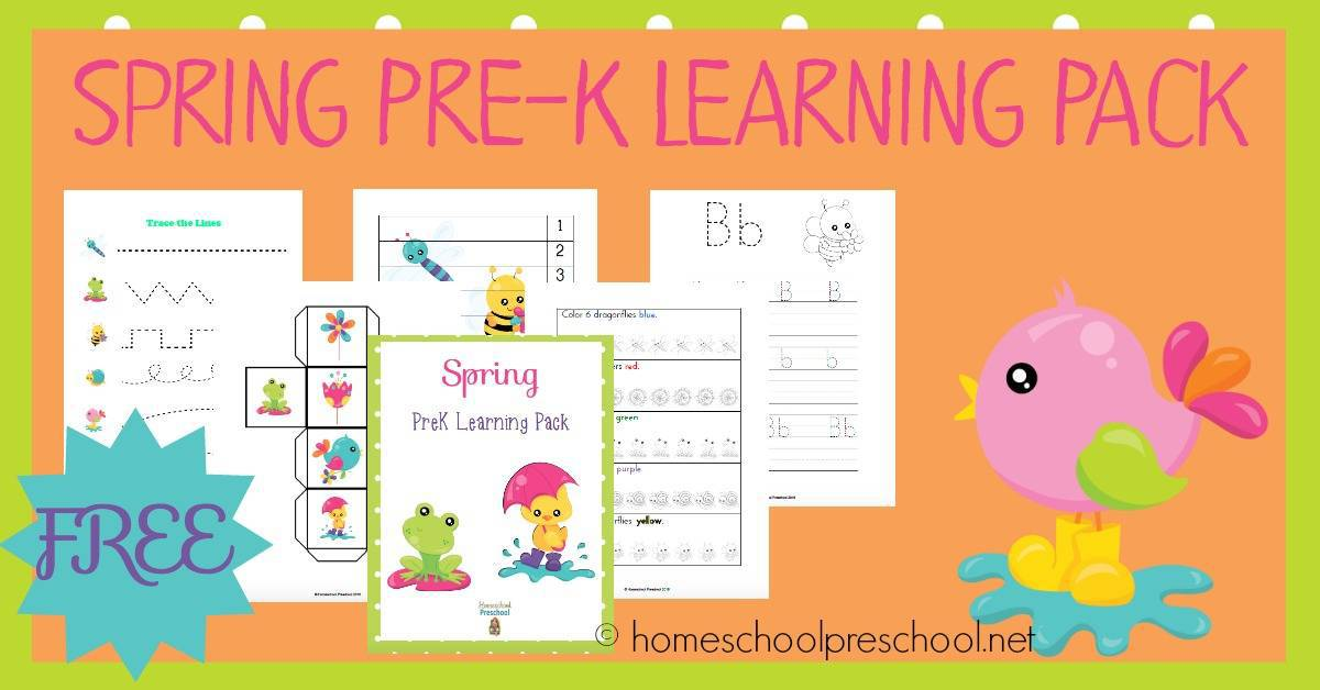 Your preschoolers will love this 35-page spring learning pack! | homeschoolpreschool.net