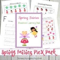 Printable Spring Fairies Preschool Learning Pack