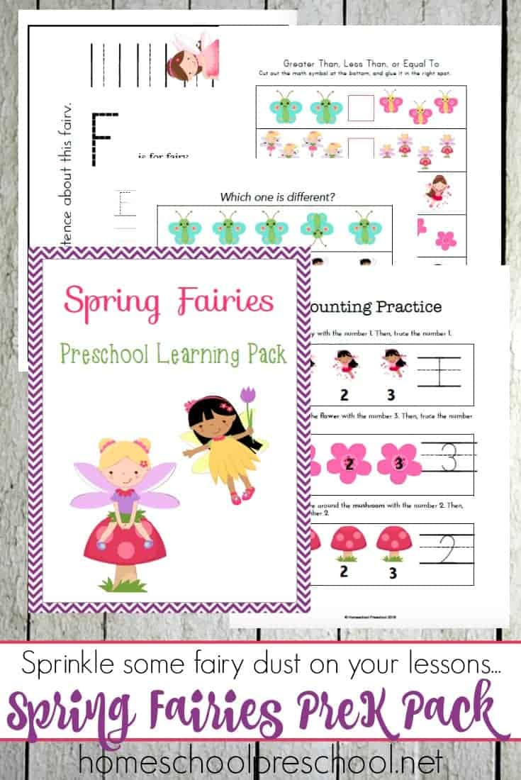 These fairies are here to make your preschool lessons more magical this spring. Stop by and download your Spring Fairies preschool learning pack today!