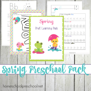 Spring Learning Pack for Preschoolers