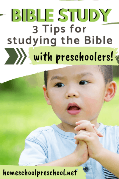 Digging into the Bible with preschoolers can be tricky but so rewarding. Here are some of my favorite resources for Bible study for preschoolers.