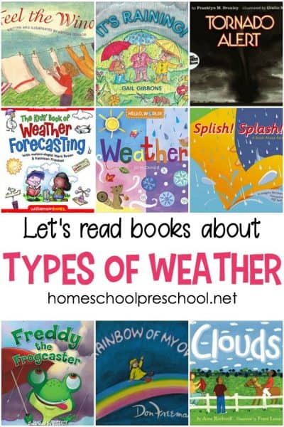 24 picture books about weather! Use these books to teach about all the different types of weather with fun stories and nonfiction books.