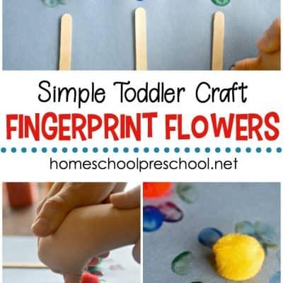 Easy Fingerprint Flowers Craft