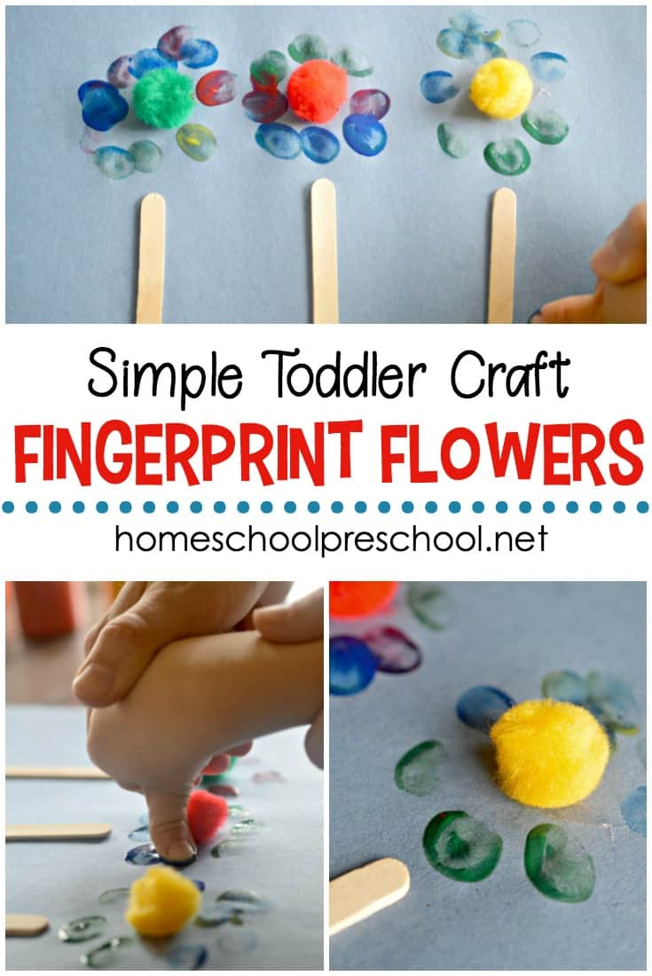 Are you looking for a super simple craft to do with your kids? It doesn't get any easier than this fingerprint flower craft!