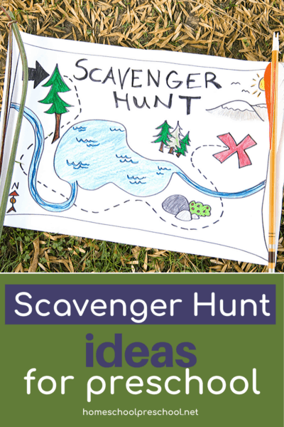 Whether you're looking for something fun to do at home or around the neighborhood, check out these fun suggestions for a preschool scavenger hunt!