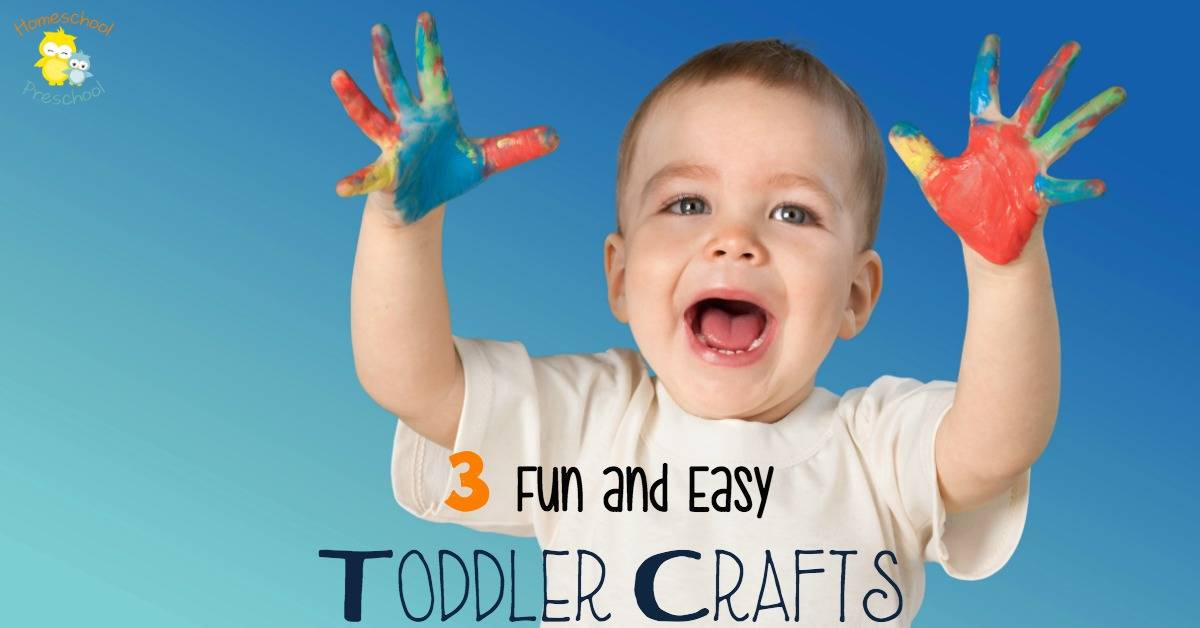 Whether you're looking for a fun rainy day activity or you want to foster your toddler's creativity, these three crafts are easy enough for toddlers to make. | homeschoolpreschool.net