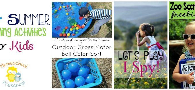 Summer Learning Activities for Your Preschooler