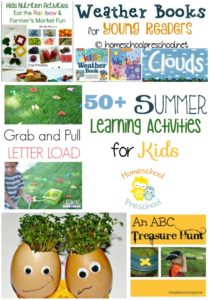 Learning doesn't have to stop just because it's summer. Keep your little ones engaged with more than 50 summer learning activities! | homeschoolpreschool.net