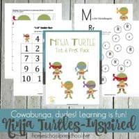 Ninja Turtles Printable for Tots and Preschoolers