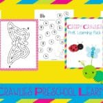 Insects Preschool Printable