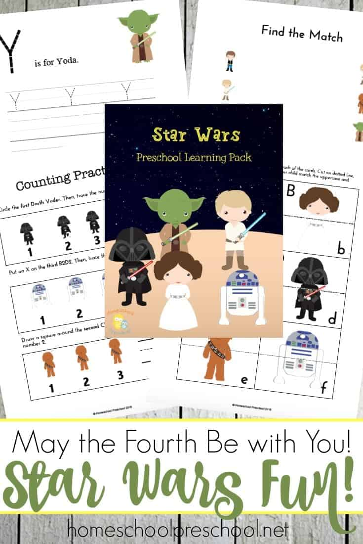 Next week, fans everywhere will be celebrating Star Wars Day! Print out this preschool printable, and May the Fourth Be with You!