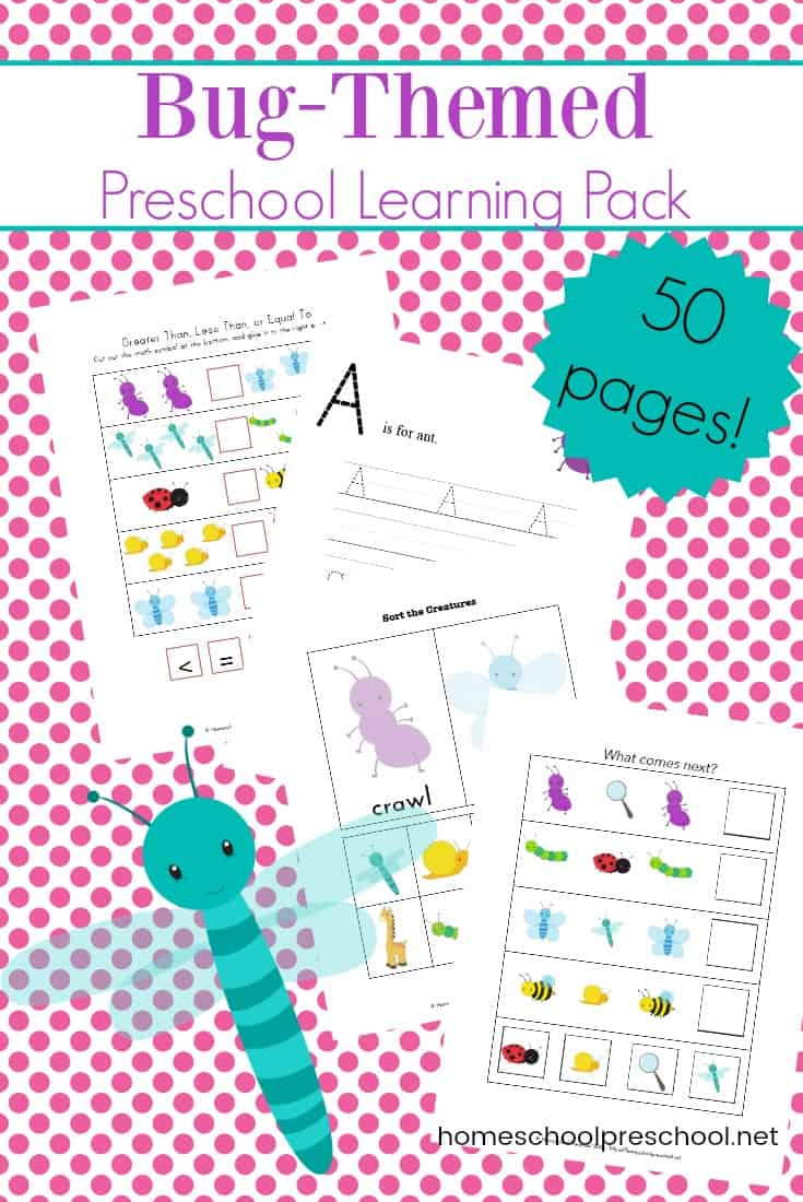 If your preschooler loves bugs, he'll love this fun bug theme preschool activity pack. It's full of learning activities that are perfect for young learners.