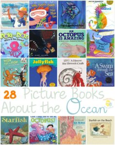 Is your little dreaming of the beach? Are you planning a beach vacation? If so, fill your book basket with these picture books about the ocean. | homeschoolpreschool.net