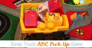 Dump Truck Pick Up the Alphabet Game