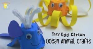 Easy Egg Carton Ocean Animals Craft