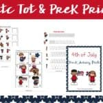 Patriotic Printable for Tots and Preschoolers