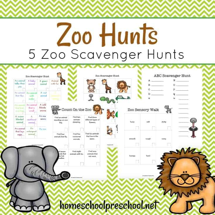 Summer's a great time to visit the zoo, and your young children will love going on a zoo scavenger hunt on your next visit.