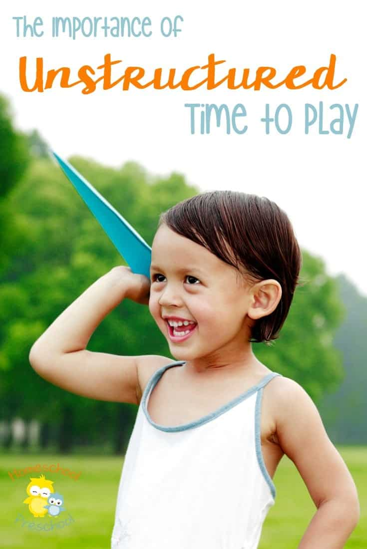 Kids need unstructured time to play. This time is so important in developing key emotional and social skills. Come see the benefits, and tell me what you think. | homeschoolpreschool.net