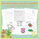 Would a Worm Go On a Walk Book Giveaway {with Printable}