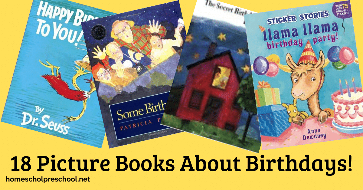 Whether your little ones are celebrating a birthday or they just like to read about them, fill your book basket with these fun birthday books for preschoolers.