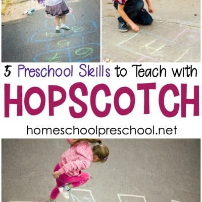 Teach with A Fun Hopscotch Game for Preschoolers