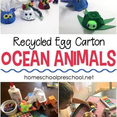Easy Egg Carton Ocean Animal Crafts