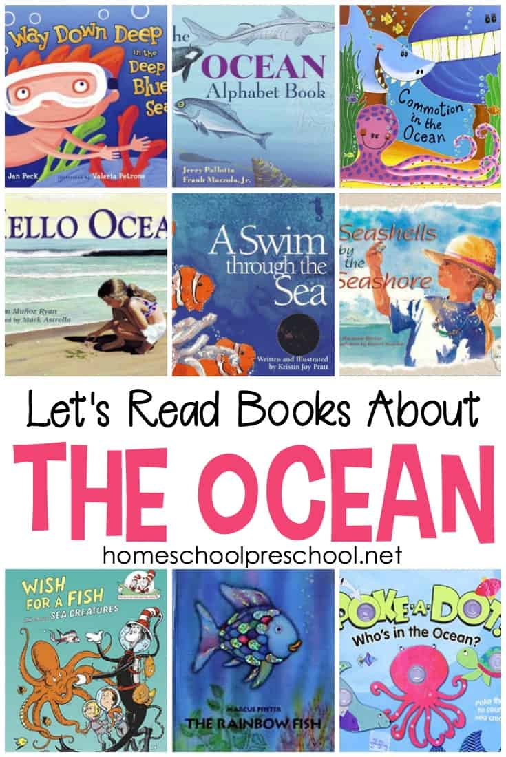 Is your little dreaming of the beach? Are you planning a beach vacation? If so, fill your book basket with these ocean books for preschool readers.