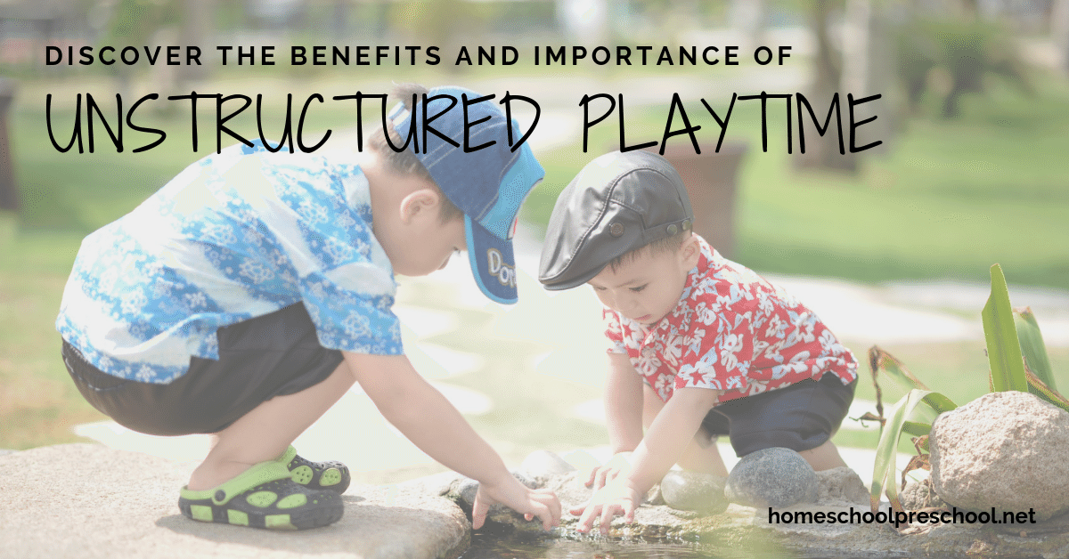 Unstructured play time is important for a child's development. Discover what unstructured play is and the benefits of including it in your child's day.