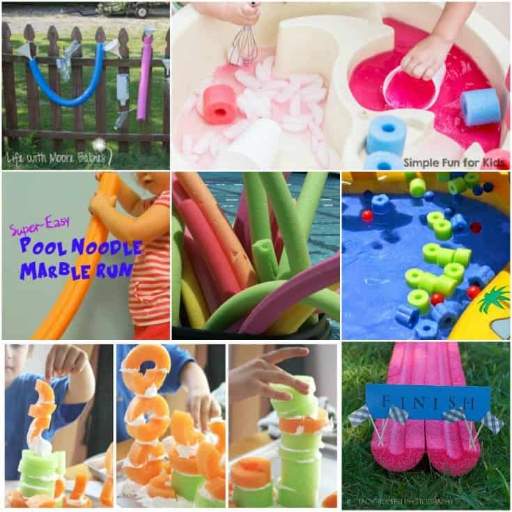 Do not miss this list of fun things kids can do with pool noodles - besides swim or bop a sibling on the head!