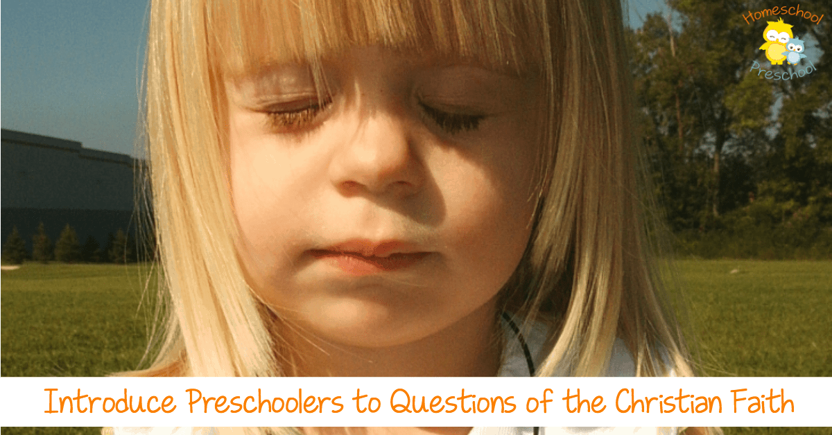 Introduce Preschoolers to the Christian Faith