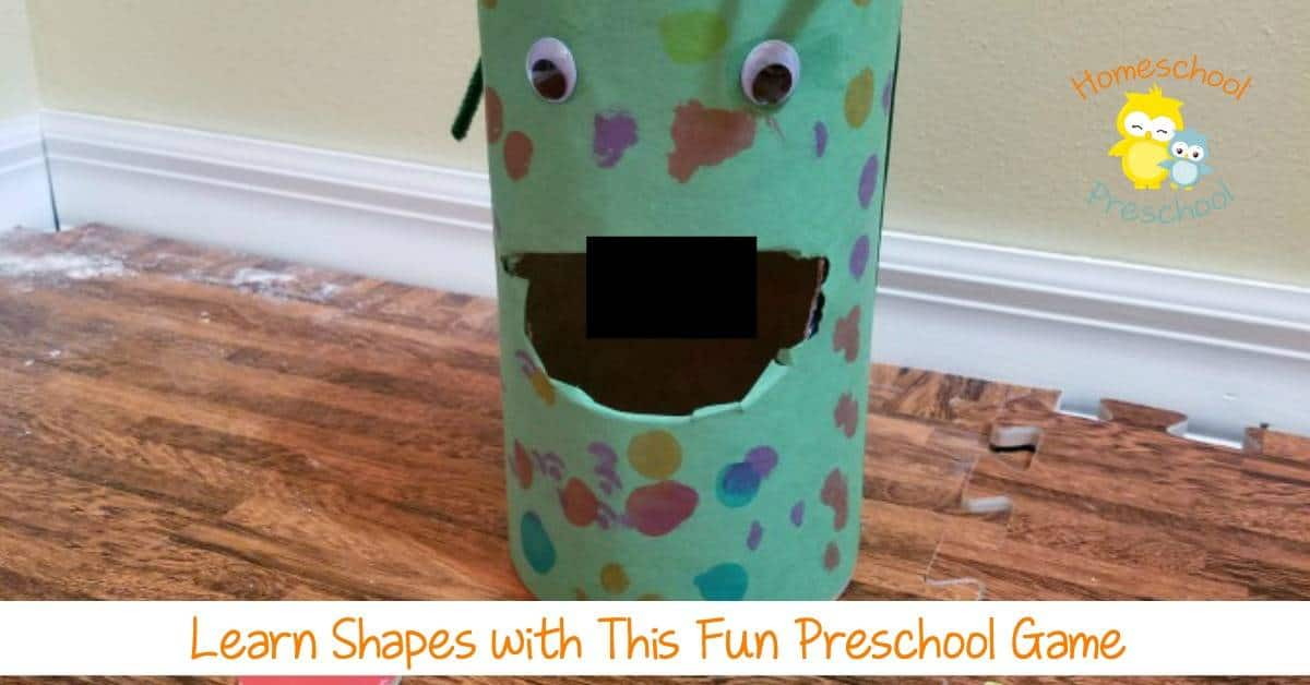 Preschoolers will have a blast learning their shapes, colors, numbers, and letters as they feed the monster! | homeschoolpreschool.net