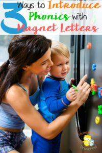 Do you have magnetic letters on your refrigerator? If not, you're missing a wonderful method for introducing your preschoolers to phonics. | homeschoolpreschool.net
