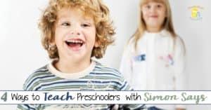How to Teach Preschoolers with Simon Says